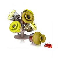 Органайзер для специй подставка для приправ Pop Up Spice Rack с силиконовыми крышечками