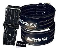Biotech пояс кожаный атлетический Powerlifting Belt Austin 3 (М-XXXL)