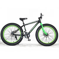 "Велосипед Profi 26"" Fat Bike 26XD10-2 Черно-зеленый"