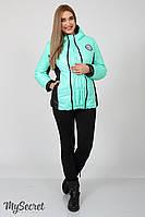 Куртка спортивная для беременных, демисезонная (мятный)