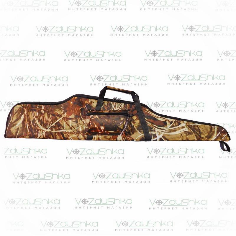 """Чехол для охотничьей винтовки длиной до 125 см, ПВХ пропитка, камуфляж """"камыш"""""""