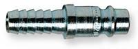 Штуцер быстроразъёмного соединения (папа) стальной с соединением для шланга 6 мм