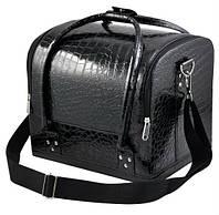 """Черная сумка для мастера маникюра """"крокодил"""""""