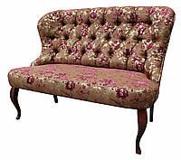 """Стильный двухместный диван """"Ретро люкс"""" в стиле барокко (130 см)"""