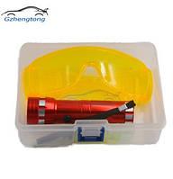Комплект фонарь, очки и люминисцентная краска для поиска фреона Spectr FR2