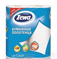 Двухслойные кухонные полотенца Zewa Плюс белые, 2 рулона