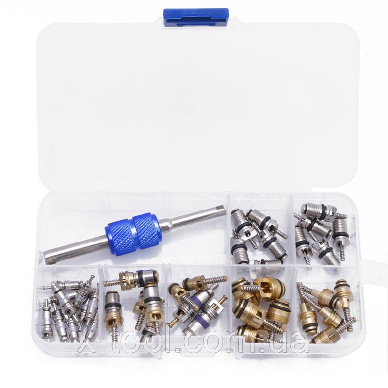Комплект золотников для обслуживания кондиционеров 134a, 22 фреон, 39 штук Spectr FR3