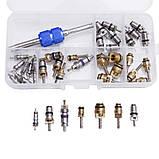 Комплект золотников для обслуживания кондиционеров 134a, 22 фреон, 39 штук Spectr FR3, фото 3