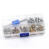 Комплект золотников для обслуживания кондиционеров 134a, 22 фреон, 39 штук Spectr FR3, фото 5