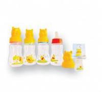 Бутылочка для кормления Lindo Pooh с силиконовой соской, 125 мл