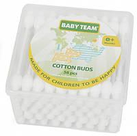 Ватные палочки с ограничителем Baby Team, 56 штук