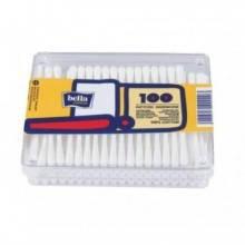 Ватные палочки Bella в прямоугольной упаковке, 100 шт.