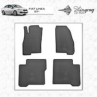 Коврики резиновые в салон Fiat Linea с 2007- (4шт) Stingray
