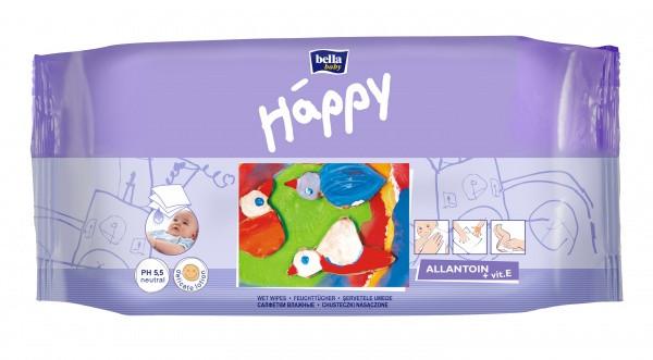 Влажные салфетки Bella Happy, 64 шт.