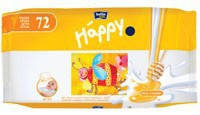 Влажные салфетки Bella Happy Milk&Honey, 64 шт.