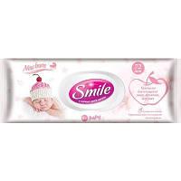 Влажные салфетки Smile Baby для новорожденных, 72 шт.