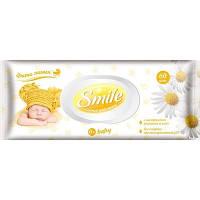 Влажные салфетки Smile Baby с экстрактом ромашки и алоэ, 60 шт.