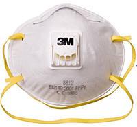 """3М Респиратор FFP1 с клапаном(защита от пыли и аэрозолей) """"8812"""""""