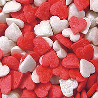 Кондитерская посыпка сахарная декоративная. Сердечки Микс.(40г)