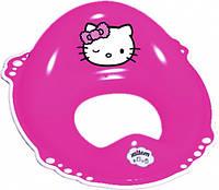 Накладка на унитаз Maltex Hello Kitty c нескользящими резинками, розовый