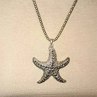 Кулон морская звезда в камнях