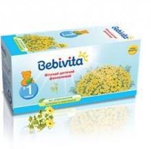 Детский фиточай с фенхелем Bebivita в пакетиках, 20 шт.