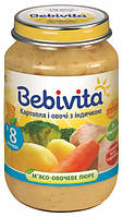 Пюре Bebivita Индейка с картошкой и овощами, 190 г