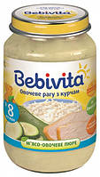 Пюре Bebivita Цыпленок в овощном рагу, 190 г