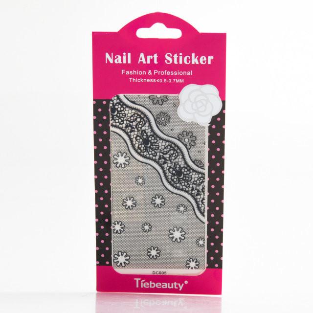 Кружево черное для дизайна ногтей