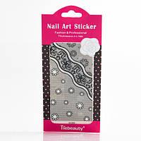 Кружево черное для дизайна ногтей, фото 1