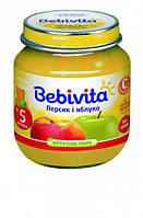 Пюре Bebivita Яблоко и персик, 100 г