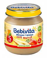 Пюре Bebivita Яблоко и груша, 100 г