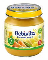 Пюре Bebivita Овощное ассорти Bebivita, 100 г