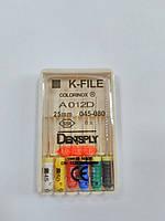 К-файлы (K-file) 6 шт Maillefer  45-80 (25мм)