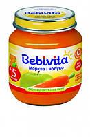 Пюре Bebivita Яблоко и морковь, 100 г
