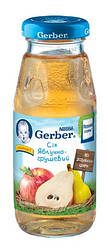 Сок Gerber яблочно-грушевый, 175 мл