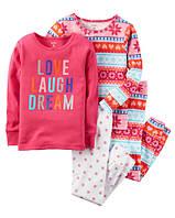 Комплект хлопковых пижам Люблю сладкие сны Картерс 2Т (88-93 см)
