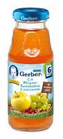 Сок Gerber яблочно-виноградный с шиповником, 175 мл