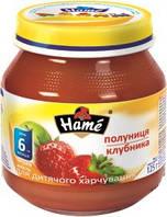 Фруктовое пюре Hame яблоко и клубника, 125 г