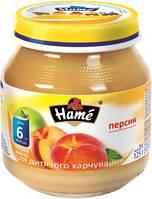 Фруктовое пюре Hame яблоко и персик, 125 г