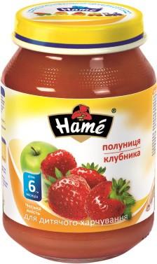 Фруктовое пюре Hame яблоко и клубника, 190 г