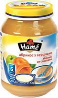Пюре Hame яблоко и абрикос со сливками, 190 г