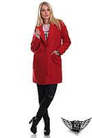 Красное кашемировое пальто от производителя