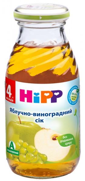 Яблочно-виноградный сок HiPP, 200 мл