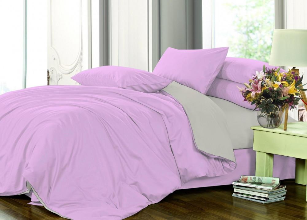 Полуторный комплект постельного белья сатин однотонный, микс №033+№251