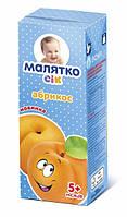 Сок Малятко абрикосовый с мякотью, 200 мл