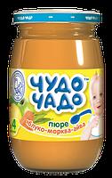 Пюре Чудо-чадо Яблоко, морковь и айва с сахаром и витамином С, 170 г