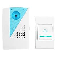 Электрический звонок в квартиру 9001 DC, беспроводной, работа от батареек, 30 мелодий, радиус до 100 м