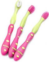 Набор зубных щеток Nuby для десен и чистки зубов, 3 штуки, в ассортименте
