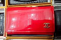 Кошелек Chanel 114652 женский из натуральной кожи монетница снаружи на кнопке тройного сложения